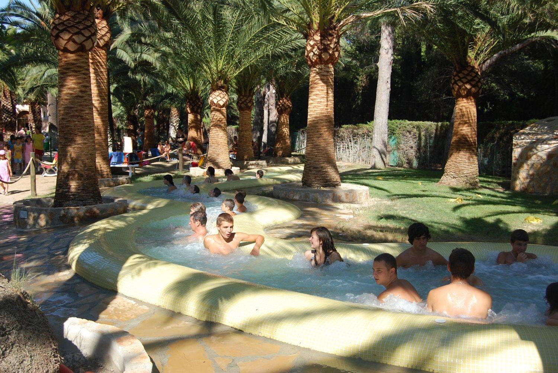 Lazy river zwembad - Camping La Torre del Sol , camping met zwemparadijs